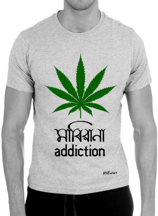 Mariwana Addiction Grey Tee